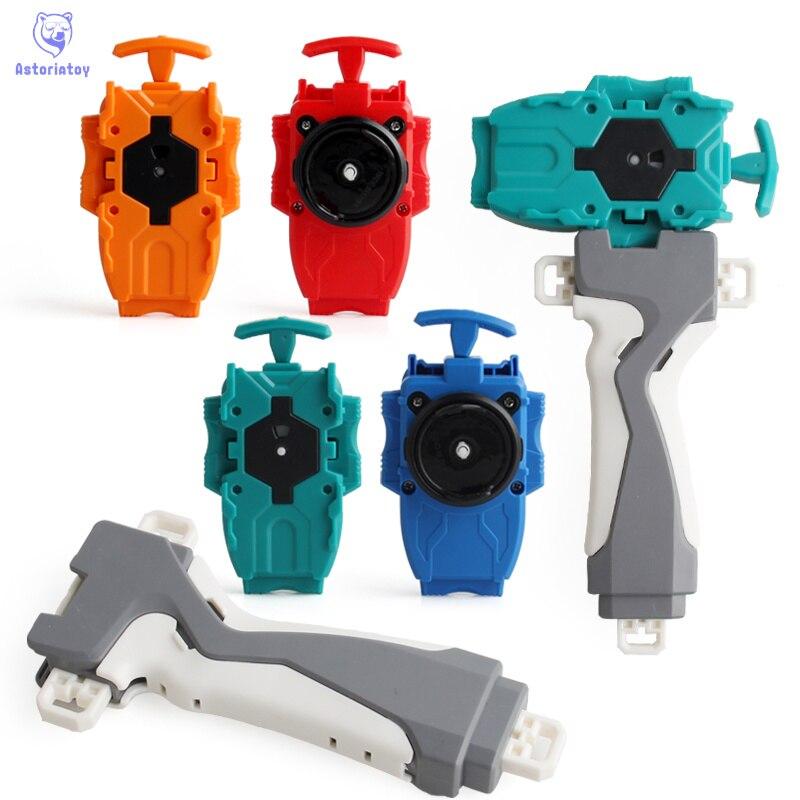 4 cor 1pc lâmina alça + lançador plástico acessórios puzzle brinquedos para crianças