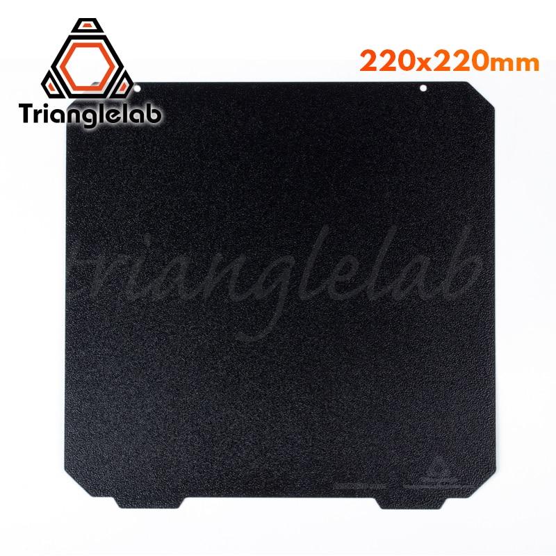 Trianglelab-لوحة بناء فولاذية للطابعة Anet ، لوح فولاذي PEI مزدوج الوجه للطابعات ثلاثية الأبعاد ، 220X220 ، لـ Anet A8 Robo R2 ، Wanhao