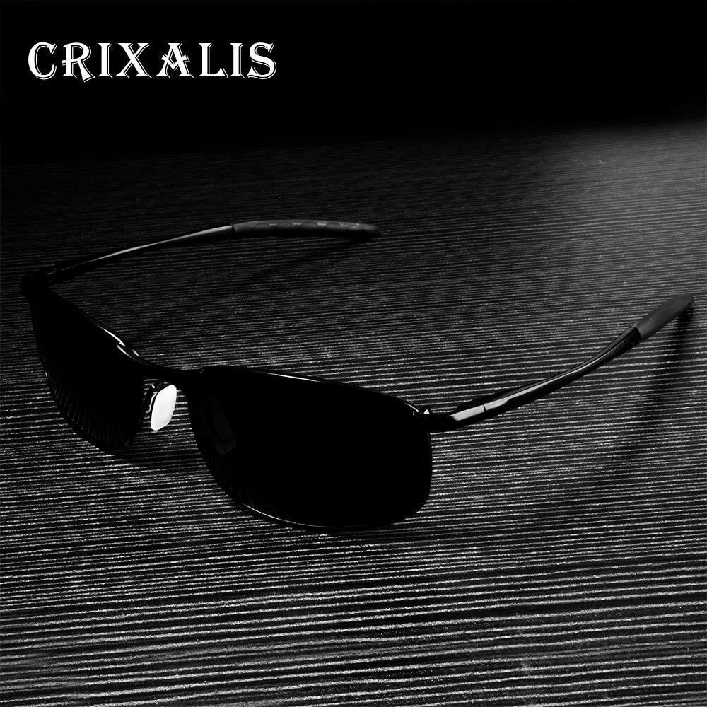 Мужские поляризованные солнцезащитные очки Crixalis, брендовые дизайнерские Квадратные Солнцезащитные очки ночного видения CL3360