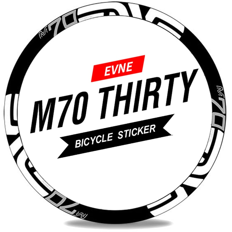 M70 treinta 26er 27.5er 29er llanta rueda calcomanías montaña pegatina bicicleta MTB pegatina de ruedas