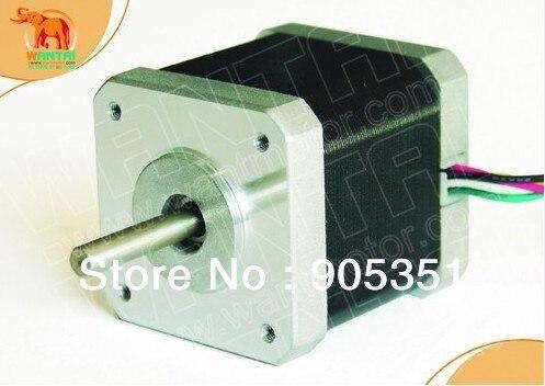 Cnc nema17 para 1.7a, 4200g. cm, 48mm de comprimento, 2 fases, motor deslizante wantai de 0.9 graus