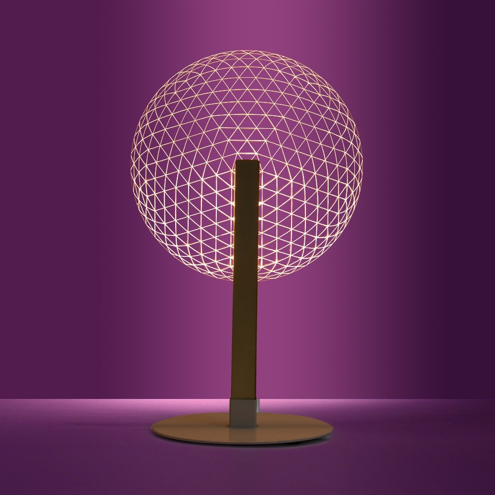 1 pieza 3D efecto Bloom lámpara de mesa lectura novedad LED Luz de noche con pantallas de lámparas luminosas 3D Luz de ilusión óptica