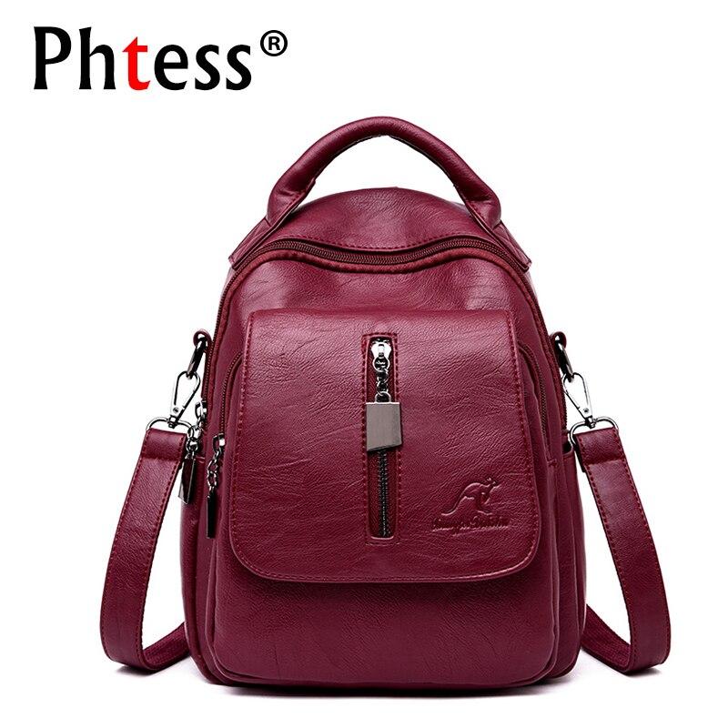 2019 Women Multifunction Backpacks For Girls Sac a Dos Female Backpak High Quality Bagpack Ladies Vintage Back Pack Travel Bag