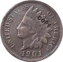1901 hint baş kuruş para kopyası