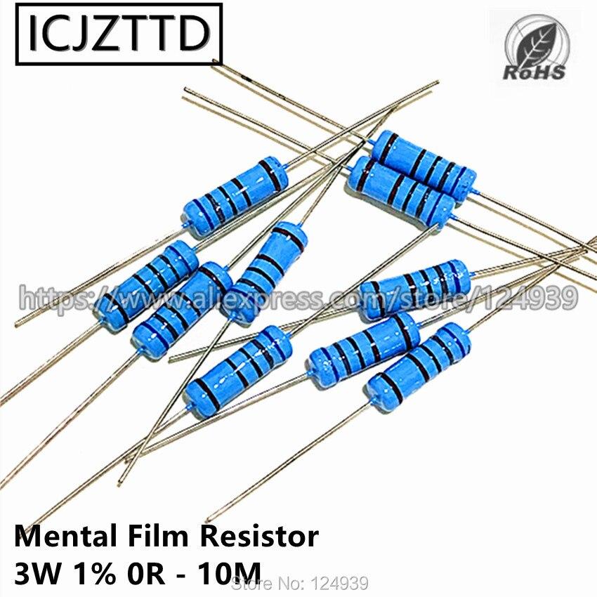 10 pcs 3 W 1% 3 W Mental Filme Resistor 1% 360 K 390 K 430 K 470 K 510 K 560 K 620 K 680 K 750 K 820 K 910 K 1 M 1.2 M 1.5 M 1.8 M 2 M 2.2 M 2.4 M