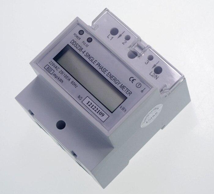 DDS238-4 230V 30(100)A 50Hz pantalla LCD monofásica DIN-Tipo de carril digital watt hora kWh medidor de energía tester monitor
