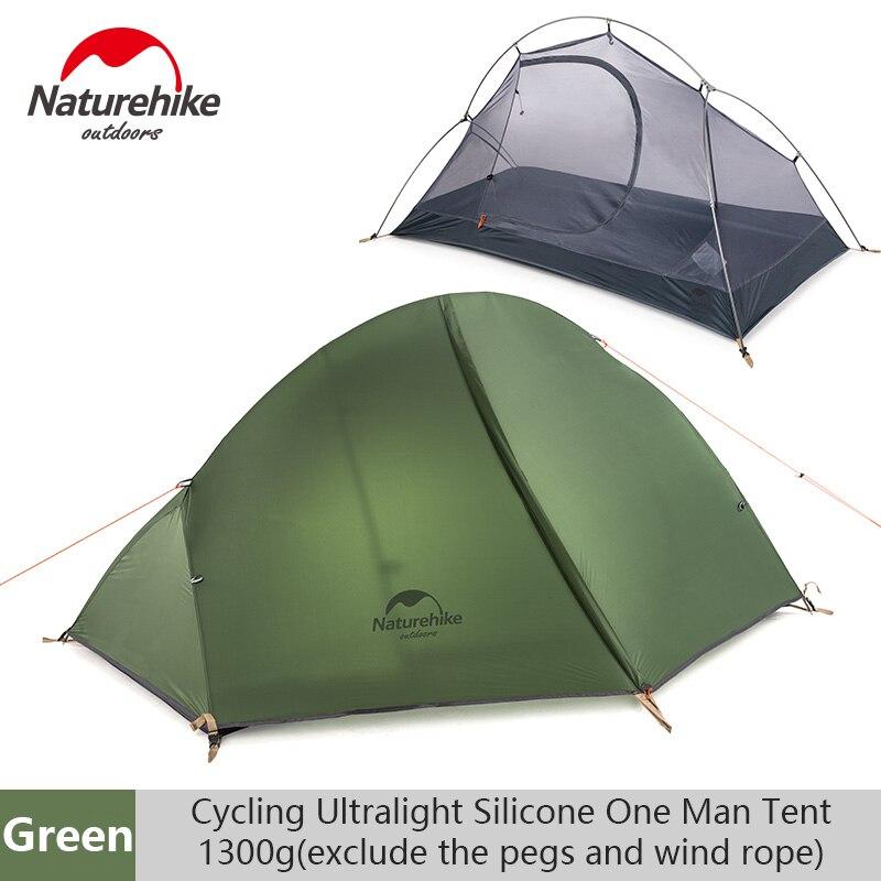 Naturehike חיצוני אחת Ultralight אוהל שכבה כפולה מקצועי קמפינג רכיבה פראי אוהל אנטי סופת גשמים