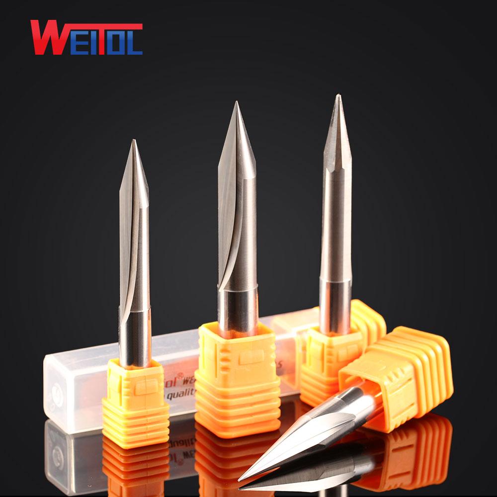 Weitol 1 шт 8 мм и 10 мм Два Флейта прямой Гравировальный Бит V формы двойной флейты прямой бит для резки дерева