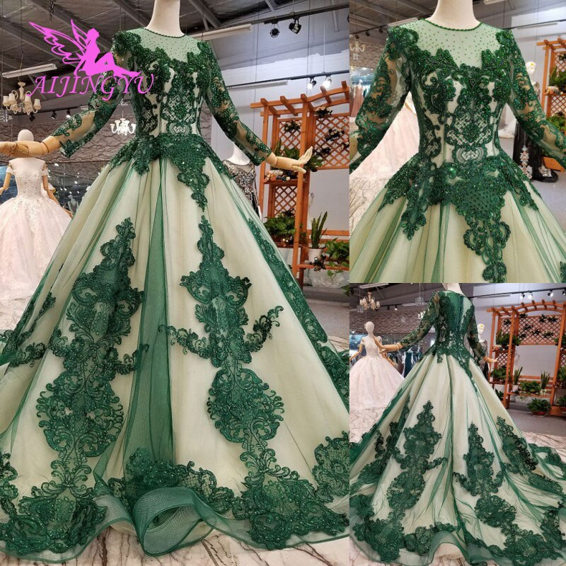 Vestido de novia AIJINGYU con capa de tela talla grande para novia con manga en línea vestidos modernos con mangas vestidos de novia