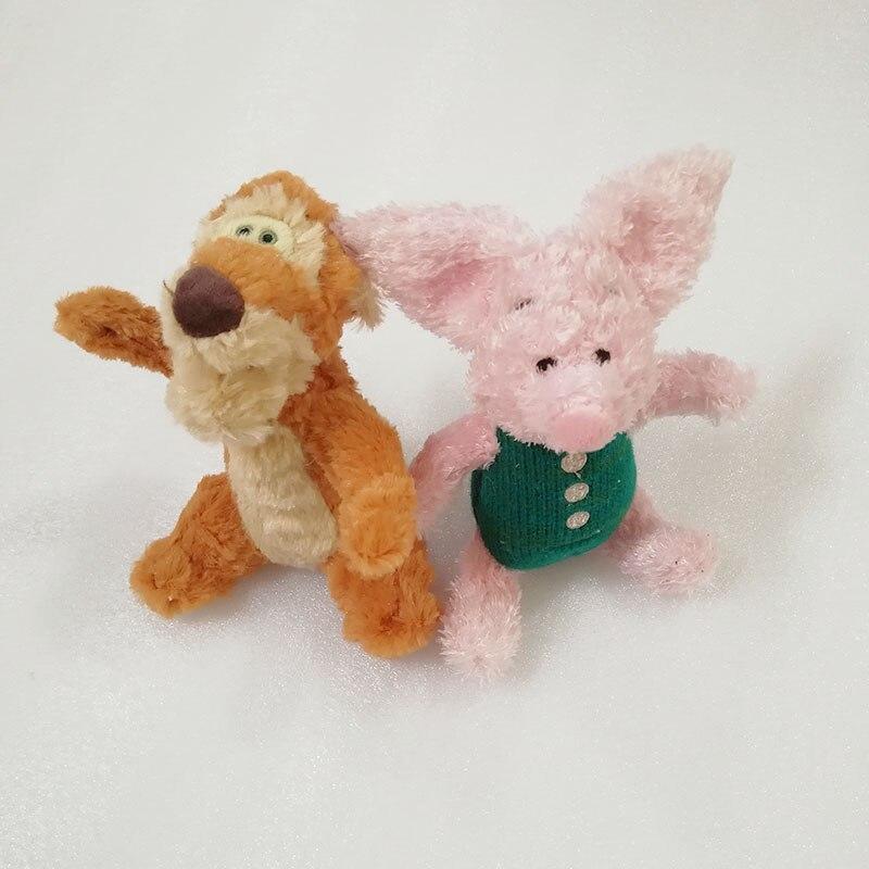 15CM Christopher Robin de peluche de juguete Retro americano Tigger Piglet pequeña muñeca de La felpa suave Animal relleno muñeca