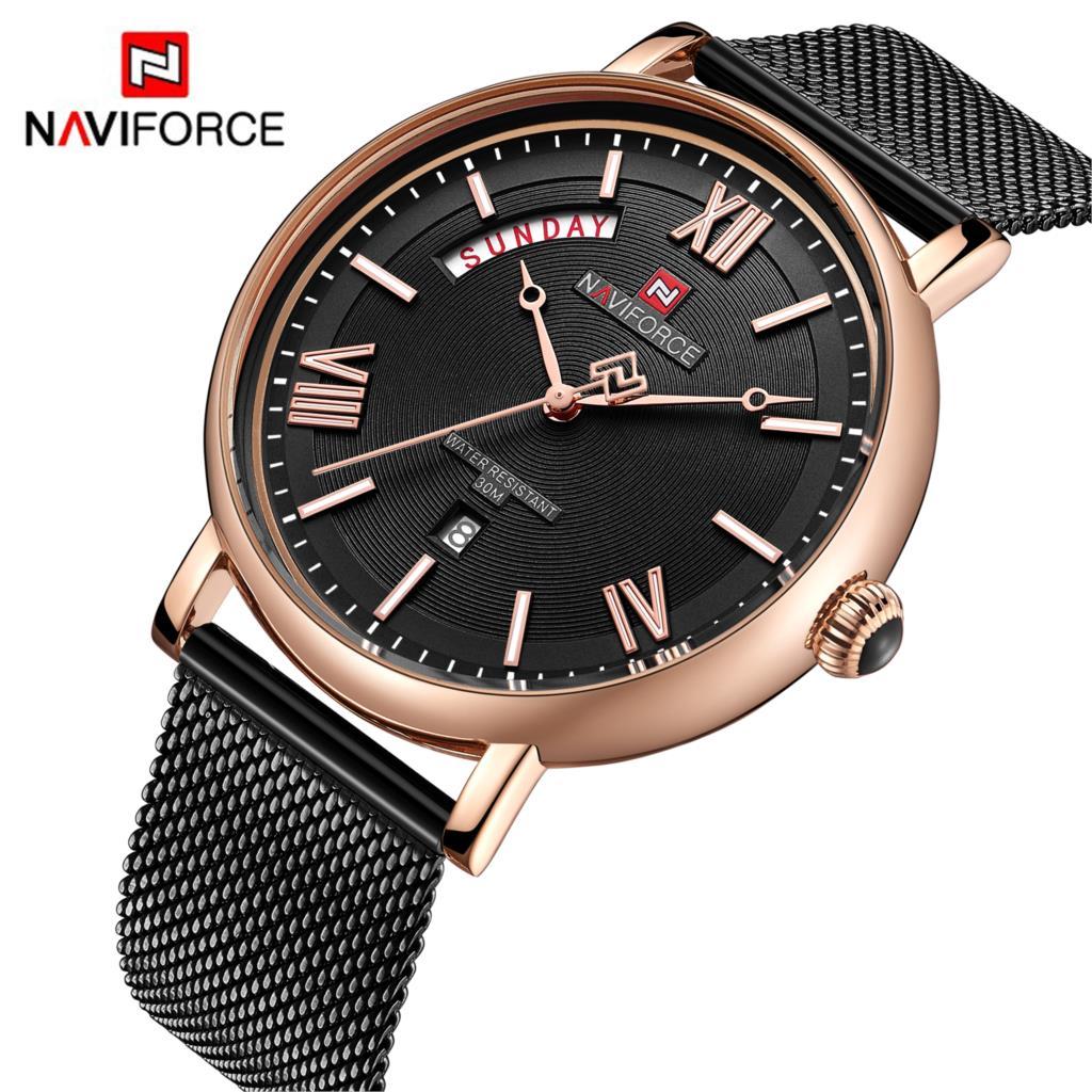 NAVIFORCE Top Brand Luxury Watches Men Stainless Steel Waterproof Watches Men Classic Quartz Men's Wrist Watch Relogio Masculino