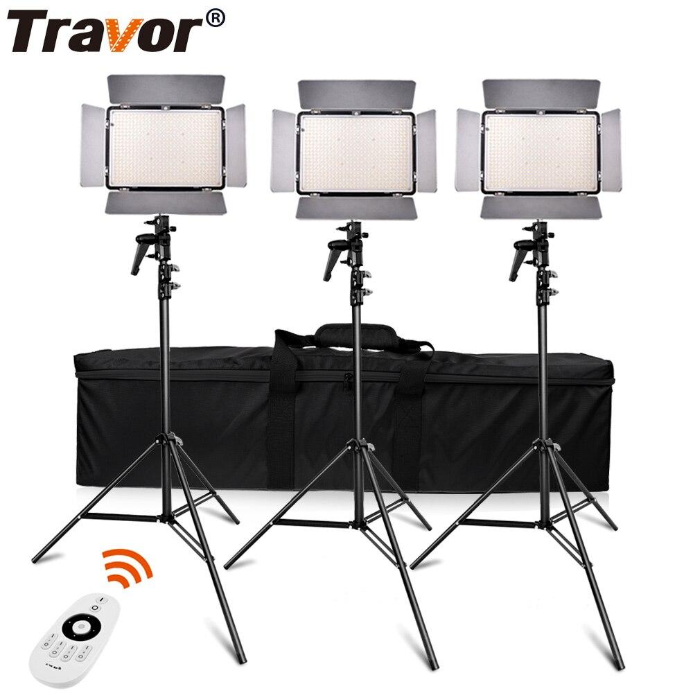 Набор для студийной фотосъемки Travor TL-600A 2,4G, двухцветная СВЕТОДИОДНАЯ Лампа для видеосъемки с пультом дистанционного управления 2,4G + аккумул...