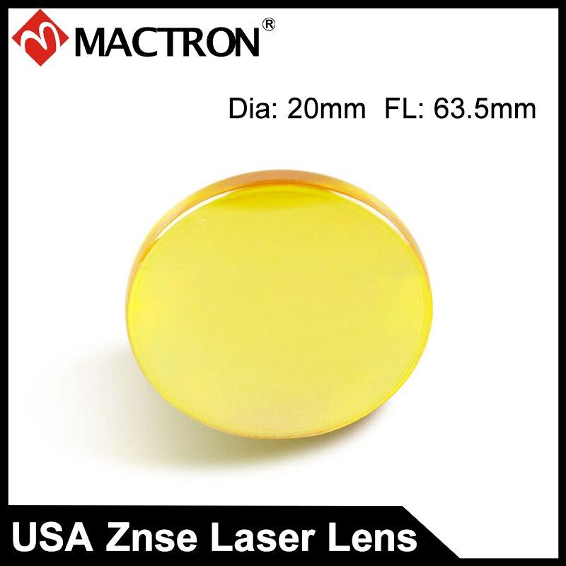 EE. UU. de láser óptico CVD ZnSe enfoque lente de 20mm FL63.5mm para Co2 máquina de corte por láser