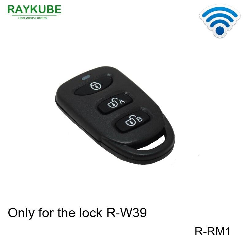 RAYKUBE, R-RM1, Control remoto inalámbrico, funciona con nuestro R-W39 de bloqueo inteligente eléctrico