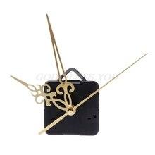 Kuvars saat hareketi mekanizması eller duvar onarım aracı parçaları sessiz kiti Set DIY altın Pointer 16