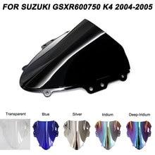 Для 04-05 Suzuki GSXR600 GSXR750 2004 2005 ветровые дефлекторы лобовое стекло мотоцикла GSXR 600 750 аксессуары 2004 2005