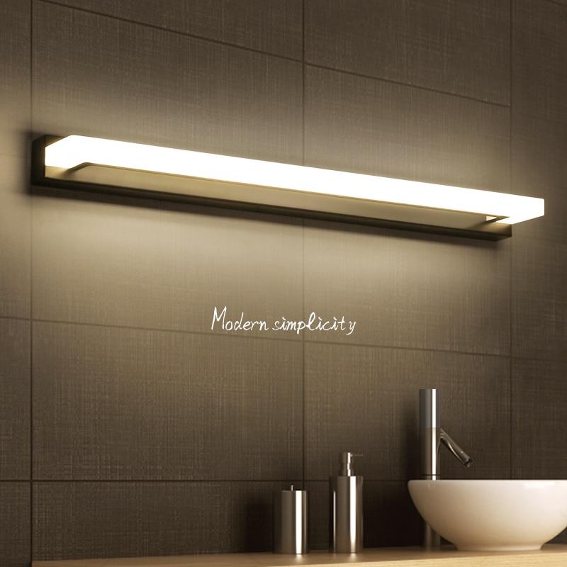 Lámpara LED minimalista moderna de plata/marrón/blanco, lámpara de noche, lámpara led de pared, espejo de luz de baño, luz Led de pared AC110 ~ 260V