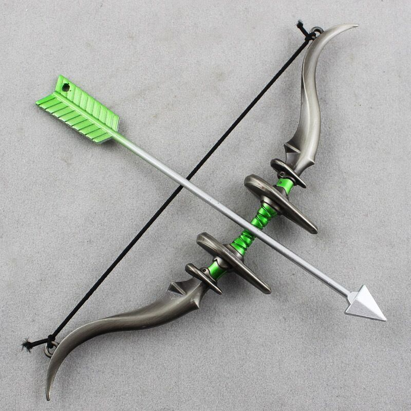 1/6 skala Legierung Pfeil und Bogen Set Waffe Modell Spielzeug 1:6 Soldat Figur Spielzeug Teile Military Armee Soldat Spielzeug Geschenk 1/6 skala BJD H