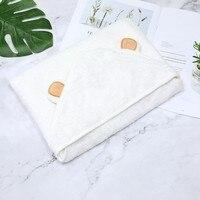 Детское банное полотенце в форме милых животных, детское полотенце с капюшоном, банный халат, детское одеяло, банное одеяло для новорожденн...