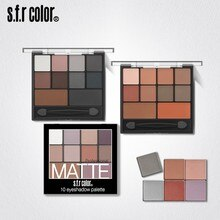 Full Matte 10 Eyeshadow Pan Pumpkin Smoky Eye Shadow Nude Eye Shadow Portable Makeup Palettes Eyeshadow  Primer
