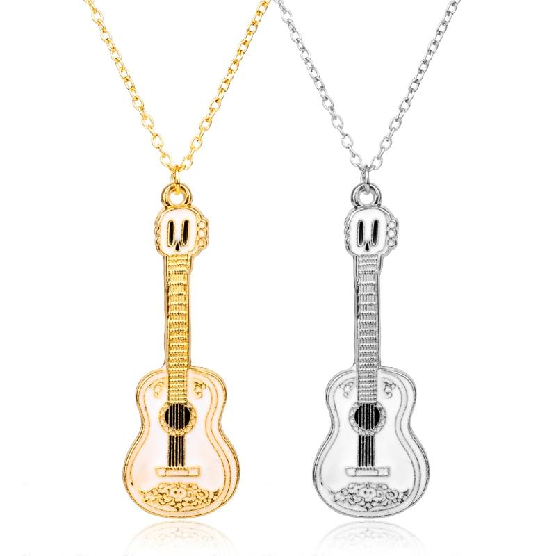 MQCHUN, ожерелье для гитары для мужчин и женщин, подарок для любимой музыки, серебряное, Золотистое Ожерелье-кокос, подвеска, цепочка, хип-хоп, р...