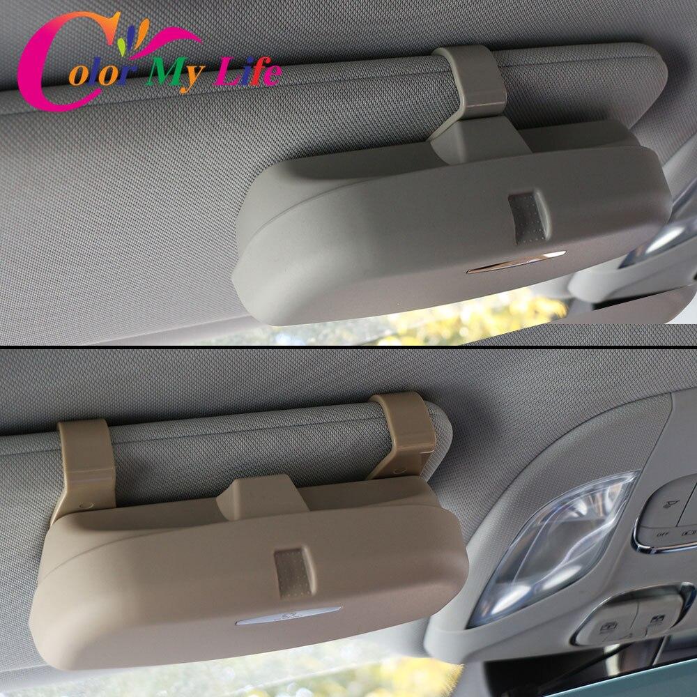 Color My Life Car Glasses Case Organizer Box Sunglasses Holder Storage Pockets for Mitsubishi Asx Outlander Lancer 9 10 Pajero