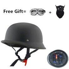 CHROM SPIEGEL Deutsch militär stil motorrad helm DOT open face helme Cruiser Chopper helme motorrad helm