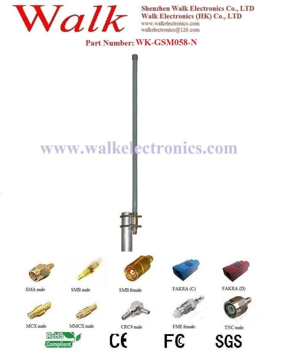 60cm 9dbi alto ganho gsm fibra de vidro antena n macho suporte à prova de intempéries montagem gprs 2g quad band fibra de vidro antena