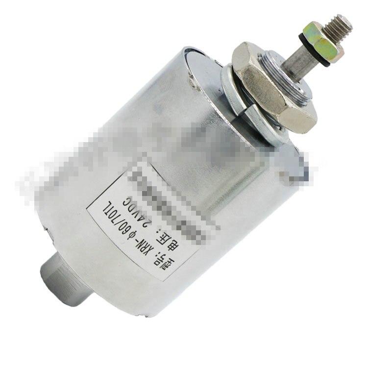 DC أنبوب نوع الملف اللولبي لفائف دفع سحب الكهربائي XRN-60X70TL DC 12V 24V السكتة الدماغية 10 مللي متر شفط 3.5 كجم 40W