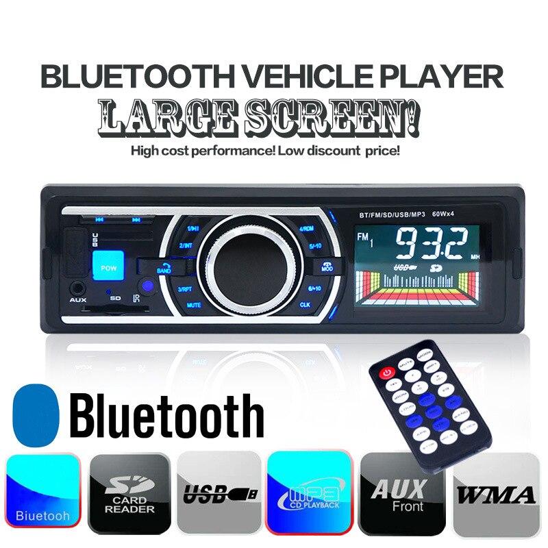 Receptor de Audio estéreo para coche con 12V Aux en adaptador de Radio FM reproductor de MP3 para coche compatible con ranura para tarjeta SD MMC con Bluetooth