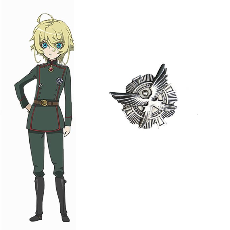 Saga de Tanya le mal Badge Tanya Degurechaff Cosplay broche adulte métal broche accessoires