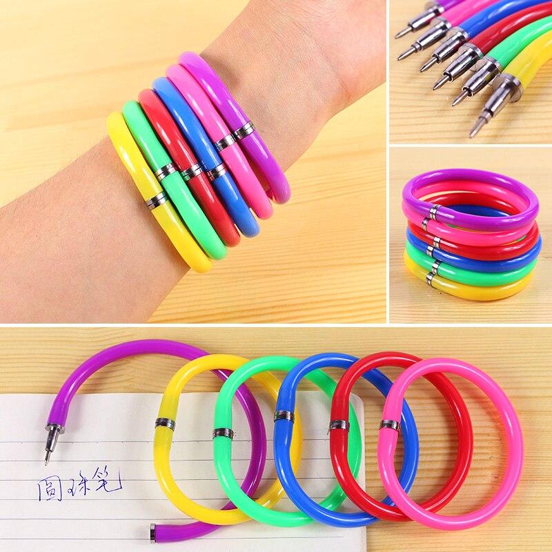 24 Uds bolígrafo pluma pulsera brazalete lápiz de joyería Jottings suministros de escritura Campus Boligrafo para niñas viajero diario
