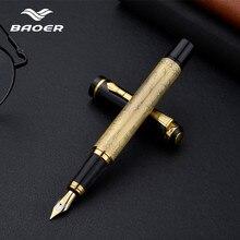 Penna stilografica Baoer in metallo di alta qualità penna stilografica di lusso Pluma Fuente Stylo pennacchio regalo di lusso penna a inchiostro di cancelleria