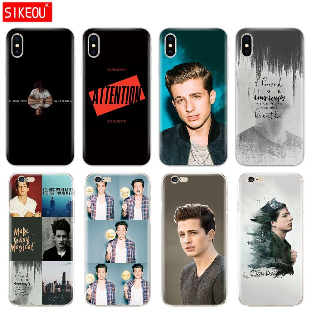 Silikon Abdeckung Telefon Fall Für Iphone 6X8 7 6 s 5 5 s SE Plus 10 XR XS max Fall Charlie Puth