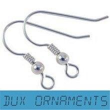 1000 PCS/6.25USD Wholesale Silver plated  French Wire Earring fish Hooks Plain coil ear wire Earrings EARWIRE