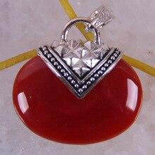 Perle de cornaline rouge naturelle gemme pendentif bijoux S623