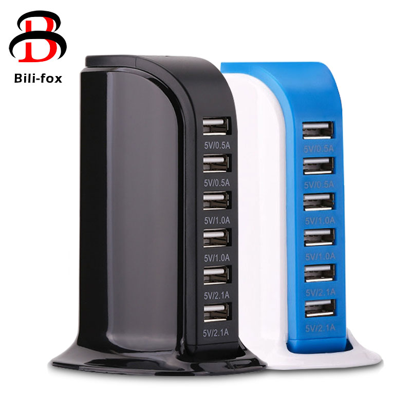 Multi USB Charger 6 Ports charger dock desk New Charging Station Base Dock Universal fast Travel Wall Socket EU US AU UK Plug