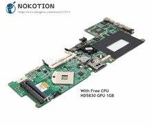 NOKOTION для HP Envy 15 материнская плата для ноутбука DASP7DMBCD0 597597-001 основная плата PM55 HD5830 графика DDR3 Бесплатный процессор