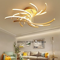 Postmodern LED ceiling lights aluminum lighting remote dimming lighting living room bedroom lamps home fixtures
