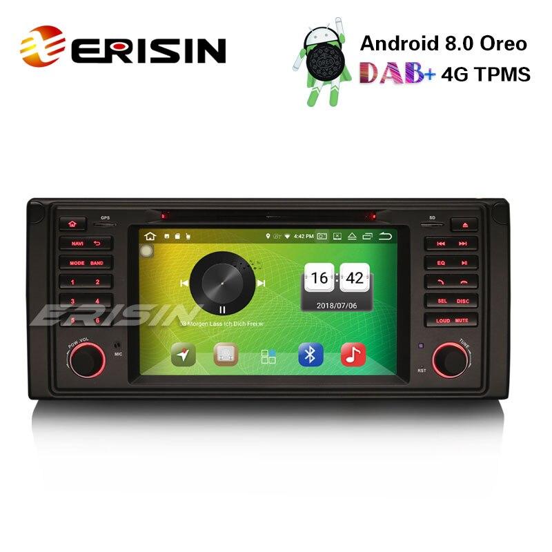 """Erisin ES7339B 7 """"Android 8,0 Car Stereo DVD DAB + GPS navegación DVR 4G para BMW 5er E39 E53 X5 M5"""