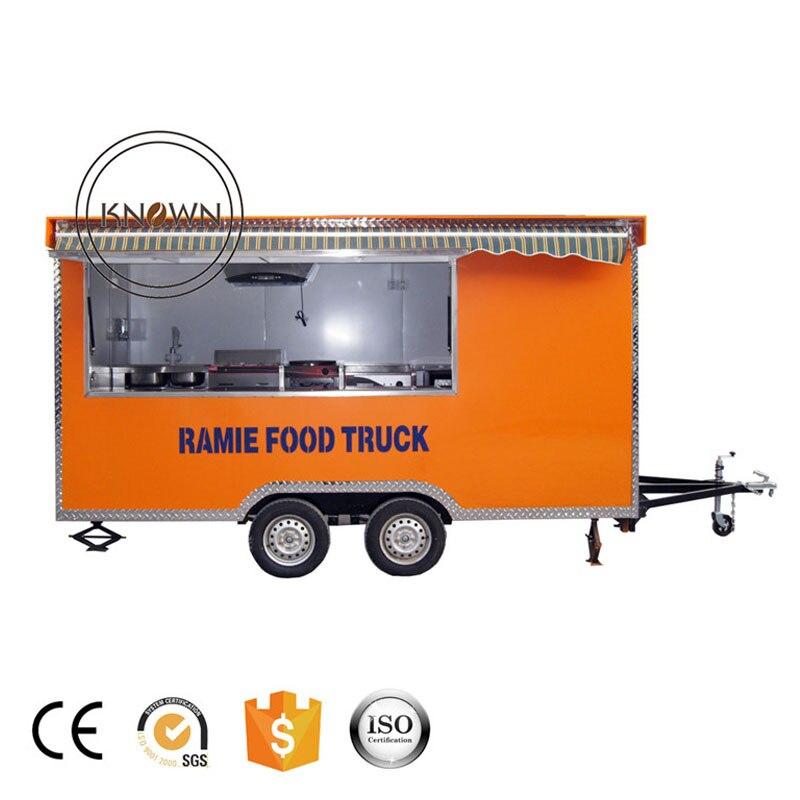 Precio de fábrica, remolque de cocina móvil, carrito de comida, camión de cocina, envío gratis