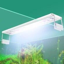 Aquarium LED Beleuchtung 15-57cm Hohe Qualität Aquarium Lampe Mit Erweiterbar Klammern Weiß Und Blau LEDs Passt für Aquarium