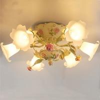 Korean pastoral living room dining room Ceiling Lights children room lamp bedroom lamp romantic wedding room Ceiling lamps