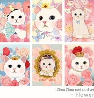 "Großhandel hohe qualität ""choo choo"" 108 teile/los = 36 designs Süße Katze postkarten/Grußkarten/Post karten CH-5040301"