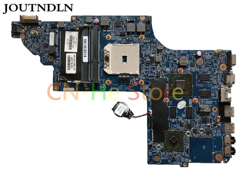 JOUTNDLN PARA HP DV6T DV6-7000 Laptop Motherboard HD7670 1 GB 55.4XR01.003 48.4SV01.011 682181-001 682181-501 CPU Livre 100% trabalho