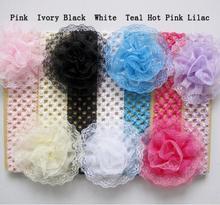100 stücke Spitze Blume Handband