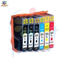 Hisaint 6PK Per HP Cartuccia di Inchiostro 564XL 564 XL Colore Nero Photosmart 6510 6520 7510 7520 Trasporto Libero Globale