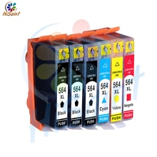 Hisaint 6PK pour HP cartouche dencre 564XL 564 XL couleur noire Photosmart 6510 6520 7510 7520 livraison gratuite mondiale