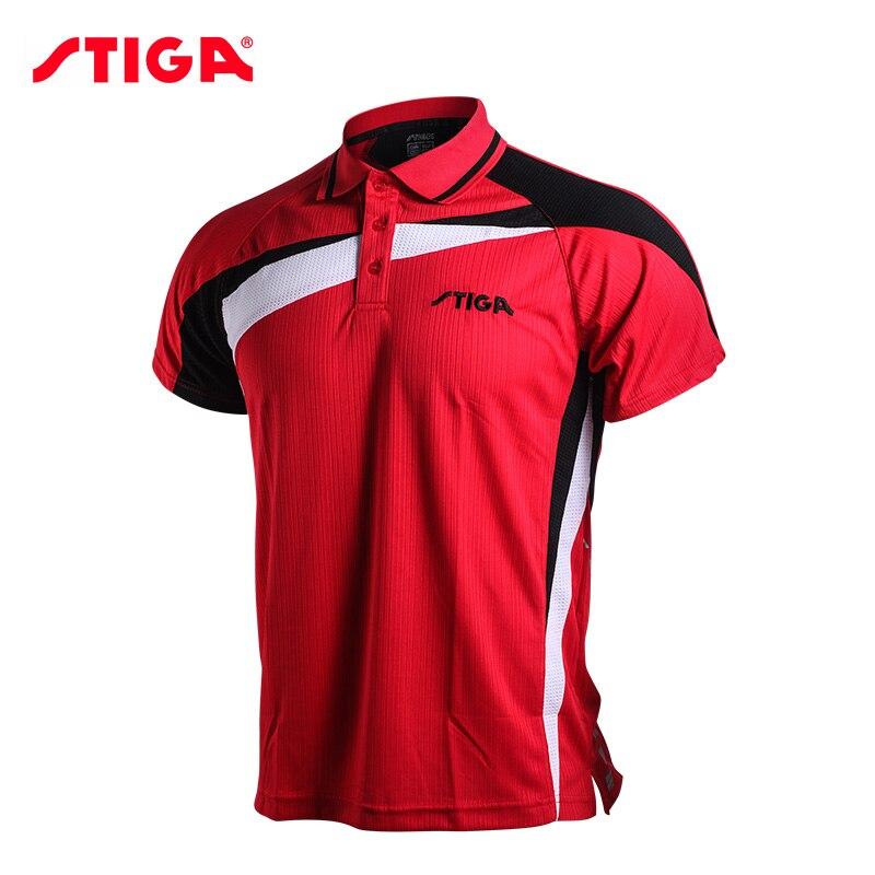Stiga ténis de Mesa roupas sportswear homens de secagem rápida de manga curta Camisa de ping pong Badminton Esporte Jerseys