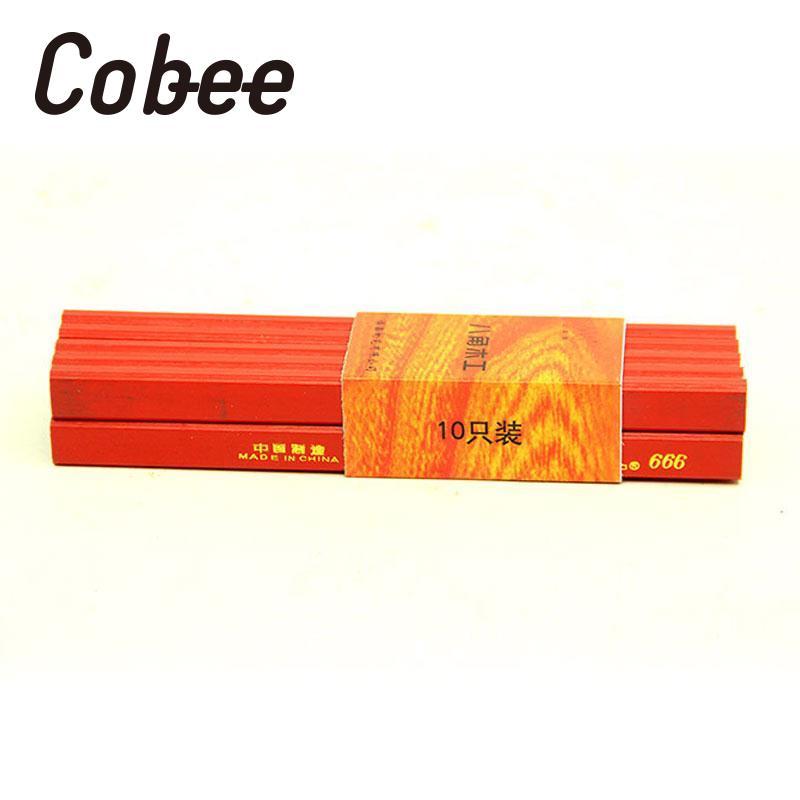Cobee 30 pièces/lot bricolage 175mm charpentier crayons constructeurs menuisiers travail du bois artisanat papeterie maison fournitures scolaires